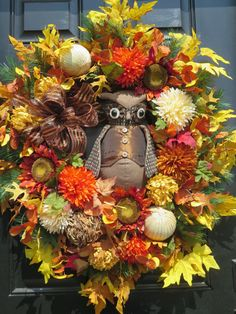 Fall Front Door Wreaths Fall Door Wreath with by hollyhillwreaths