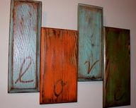 Repurposed cabinet doors.