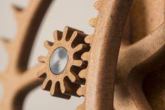 Office Clock Wheel and Pinion Detail- Composite Wooden Clock Plans, Wooden Gear Clock, Wooden Gears, Wood Clocks, Cnc Wood, Kinetic Art, Digital Clocks, Wood Watch, Woodworking Plans