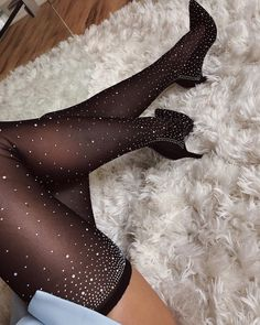 Fashion Heels, Girl Fashion, Pictures Of High Heels, Nylons, Rhinestone Heels, Sexy Legs And Heels, Fancy Shoes, Lingerie, Thigh High Boots