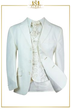 Searching for the perfect wedding suit? Then look no further. Your little man will look perfectly groomed in this complete 5 piece-wedding suit. This is a superior quality boys suit with a stylish swirl patterned waistcoat and matching cravat. Shop now at SIRRI kids #suits for boys for #wedding #communion online...Elegant fashion for children and men. #fashion #shopping