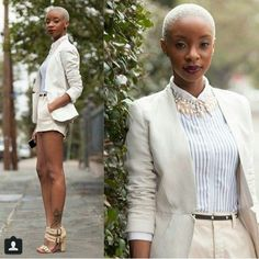Platinum Blonde TWA and Uber Confident! Blonde Twa, Black Girls, Black Women, Teeny Weeny Afro, Curly Hair Styles, Natural Hair Styles, Pelo Afro, My Hairstyle, Cut Hairstyles