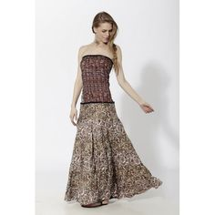 Vestido largo palabra de honor en combinación con varios estampados y torso efecto corset GN - Mauna Barcelona - fashion - moda Strapless Dress Formal, Prom Dresses, Formal Dresses, Boho Chic, Fashion Moda, Barcelona, Spirit, Collection, Gown Dress