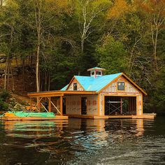 Corbin Patten architecture and design - Lake Rosseau, Ontario.  Boathouse.