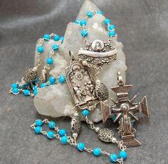Sleeping Beauty Turquoise Rosary Sterling by HeartFeltRosaries