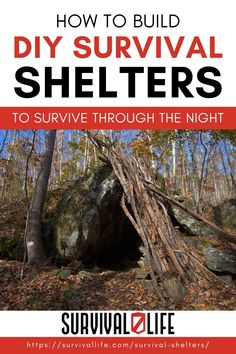 These 9 DIY survival shelters could just save your life when the sun is getting low and you're out of luck! #survivallife #survival #preparedness #survivalist #spring #sheltering #shelteringinplace Off Grid Survival, Survival Shelter, Survival Life, Wilderness Survival, Survival Prepping, Survival Skills, Family Emergency Binder, Tarp Shelters, Underground Shelter