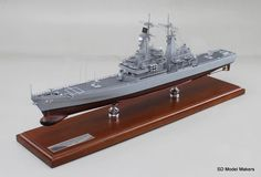 "Recently completed 26"" US Navy Guided Missile Cruiser Model The USS Mississippi (CGN-40)"