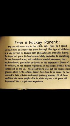 Omg. This is perfect for my son. Although his dream is still to be in the NHL.
