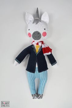 muñeca de trapo Unicorn: unicornio Sr. muñeca de por roseyragdoll