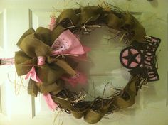 Cowgirl Party Wreath
