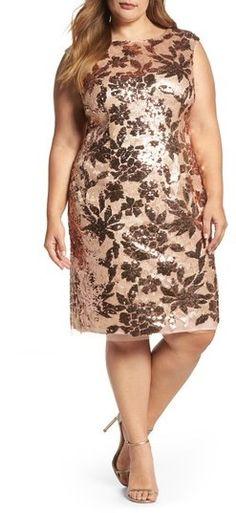 8cb787a7195 Plus Size Women s Vince Camuto Sequin Sheath Dress - Ad Plus Size Outfits