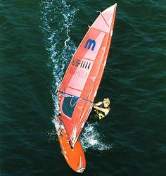 Robby Naish 1985 Gaastra with first camber inducers