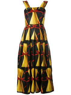 DOLCE & GABBANA Pasta Print Dress. #dolcegabbana #cloth #dress