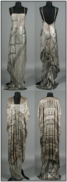 "Barbara Streisand's assiut dress and robe, worn in the movie ""A Star is Born.""  Photos from the 2004 auction catalog where this ensemble sold for 3600.00.  Barbara actually designed this ensemble herself, and pulled it from her own closet to wear in the movie!"