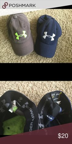 Under Armour Boys Youth Hat Lot This is a lot of 2 youth Under Armour hats.  These are both in good pre-owned condition.  One size fits all. Under Armour Accessories Hats