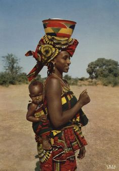 Africa, Mother with her baby. African Children, African Women, African Culture, African History, African Beauty, African Fashion, Tribal People, Tribal Women, African Tribes
