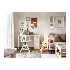 KLIMPEN / NIPEN Tisch mit Schubladen - weiß - IKEA