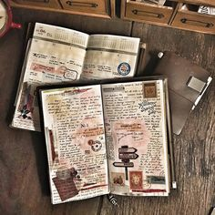 Yesterday's journal pages.... #midoritravelersnotebook #travelersnotebook…