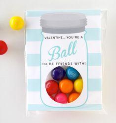 Ball Jar FREE Valentine Printable DIY Petite Party Studio