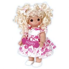 Valentines Precious Moment Doll...You've Touched So Many Hearts - Blonde! You can Personalize the name!