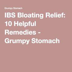 IBS Bloating Relief: 10 Helpful Remedies - Grumpy Stomach