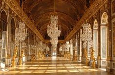 Palace of Versailles wall mural for home decor. Palace of Versailles panorama wall decal, Castle home mural for living room. Versailles Hall Of Mirrors, Chateau Versailles, Palace Of Versailles, Visit Versailles, Versailles Garden, The Places Youll Go, Places To Visit, Day Trip From Paris, Vinyl Wallpaper