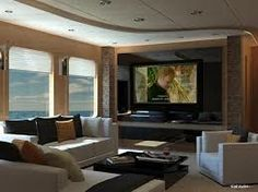 Nice Living Room With A Big Screen Tv