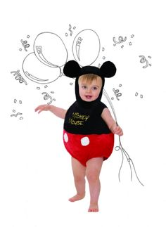 Shop for Disney Baby Costumes at Totally Fancy. Share your baby s first Disney experience with this beautiful Mickey Mouse costume This soft tabard style is perfect for fancy dress parties or events, or simply for fun play at home.