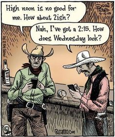 Funny cowboy cartoon