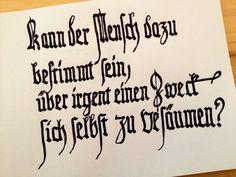 Kalligrafie mit Lang-s