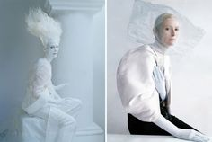 Tilda Swinton at Xilitla for amazing surrealistic photos by Tim Walker. #Caigodeamor