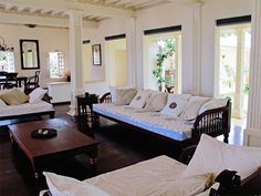 An outstanding example of a traditional Century Lamu Townhouse, newly restored, rebuilt and extended to the very highest standards 3 Bedroom House, Home Living Room, Colonial Style Homes, Renting A House, Home Furnishings, Lounge, African, Beach, Lamu Kenya