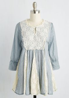 House Show and Tell Tunic. From original songs to poems and prose, your guests have many talents. #blue #modcloth