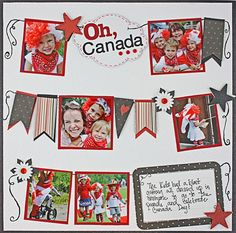 Oh, Canada #Scrapbooking Layout from Creative Memories  http://www.creativememories.com