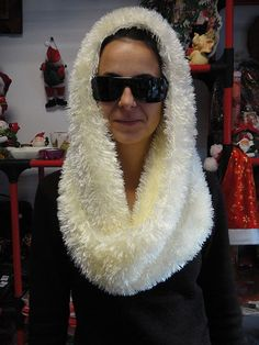 Hand knitted ladies scarf - Collar