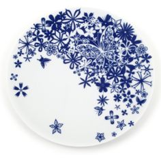 Tord Boontje Butterfly Flowers 33cm Plate (£43) ❤ liked on Polyvore featuring home, kitchen & dining, dinnerware, butterfly plates, peacock dinnerware, butterfly dinnerware, bunny plates and butterfly tableware