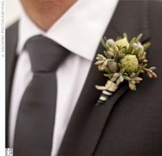 Green Wedding Boutonnieres