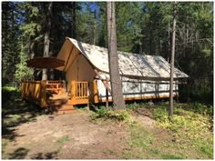 Glamping Tent | North Forty Resort | Log Cabin Lodging near Whitefish MT and Glacier Park
