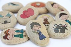 STORY STONES CINDERELLA, Story Stones Kit, Story Time, Advent Calendar Filler, Stocking Filler, Princess, Fairy Tale, Teacher Aid