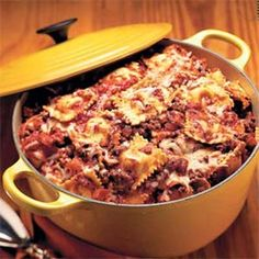 This Easy Cheesy Beefy One Pot Ravioli Pasta Meal is great for feeding a hungry family on a weeknight and can be put together in about 30 minutes.