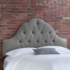 Tufted Grey Headboard