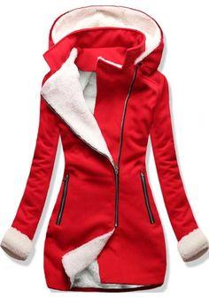 Kabát 8940 červený