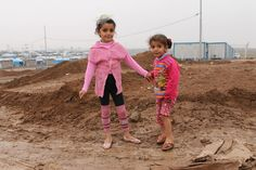 These girls are among the lucky ones that escaped ahead of ISIS. They made it to the safety of the refugee camps in Iraqi, Kurdistan where Spirit of America's field reps are working with US personnel and local organizations to understand the needs and then meet them. #ISIS #refugees #SpiritofAmerica #SoA #nonprofit #Erbil #Iraq #Kurdistan #donate #help