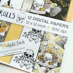 Just finished this new Halloween skull themed paper pack. What do you think?