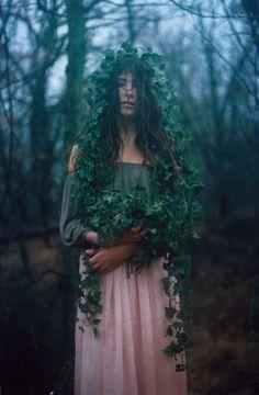 #green #forest #women