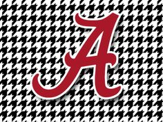6 Inch Round A Logo University of Alabama Crimson Tide ACT Removable Wall Decal Sticker Art NCAA Home Room Decor 6 Inches