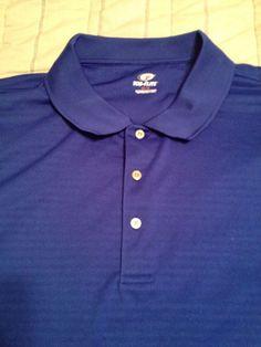Men's Top Flite Polo Golf Shirt - Blue - Polyester  -  Size 3X #TopFlite…