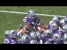 Kansas State Football Spring 2014 game | Kaiden's Play.  Kaiden has cancer and the team set him up with uniform and his own locker.  He even scored a touchdown.