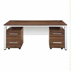 Double Pedestal Executive Desk with Modesty Panel, SET