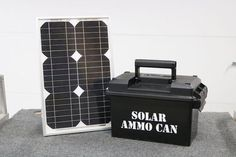 Ammo Can Solar Power Supply : 9 Steps (with Pictures) - Instructables #solarpanels,solarenergy,solarpower,solargenerator,solarpanelkits,solarwaterheater,solarshingles,solarcell,solarpowersystem,solarpanelinstallation,solarsolutions